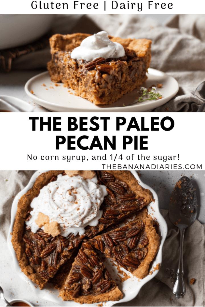 pinterest pin for paleo pecan pie