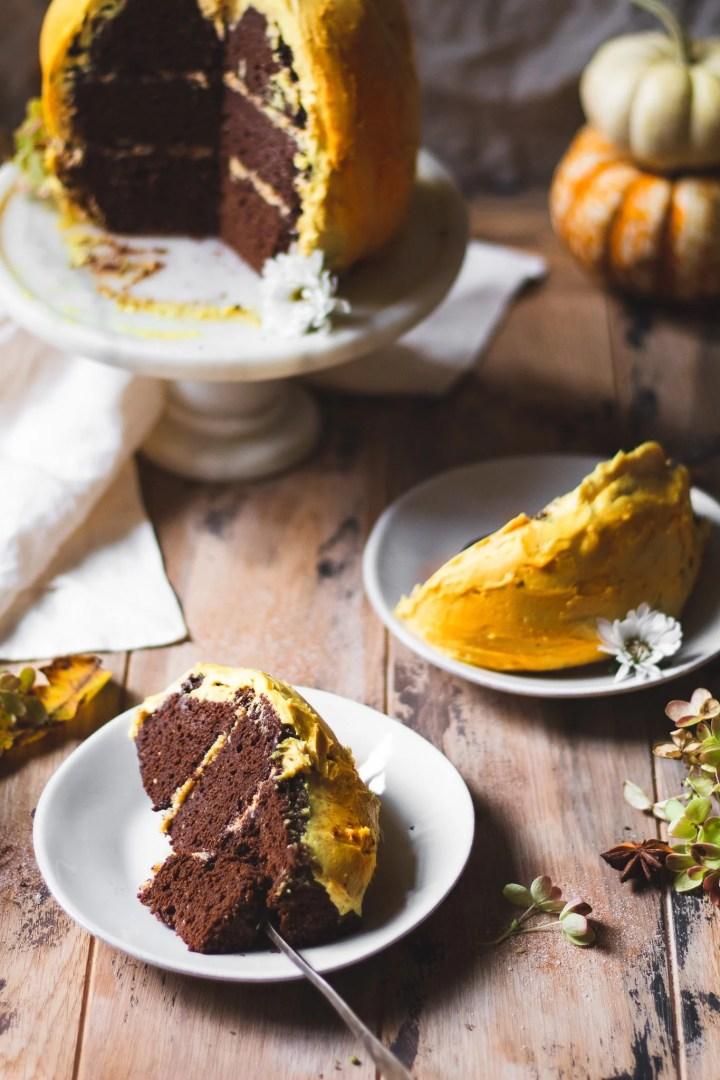 slices of pumpkin cake