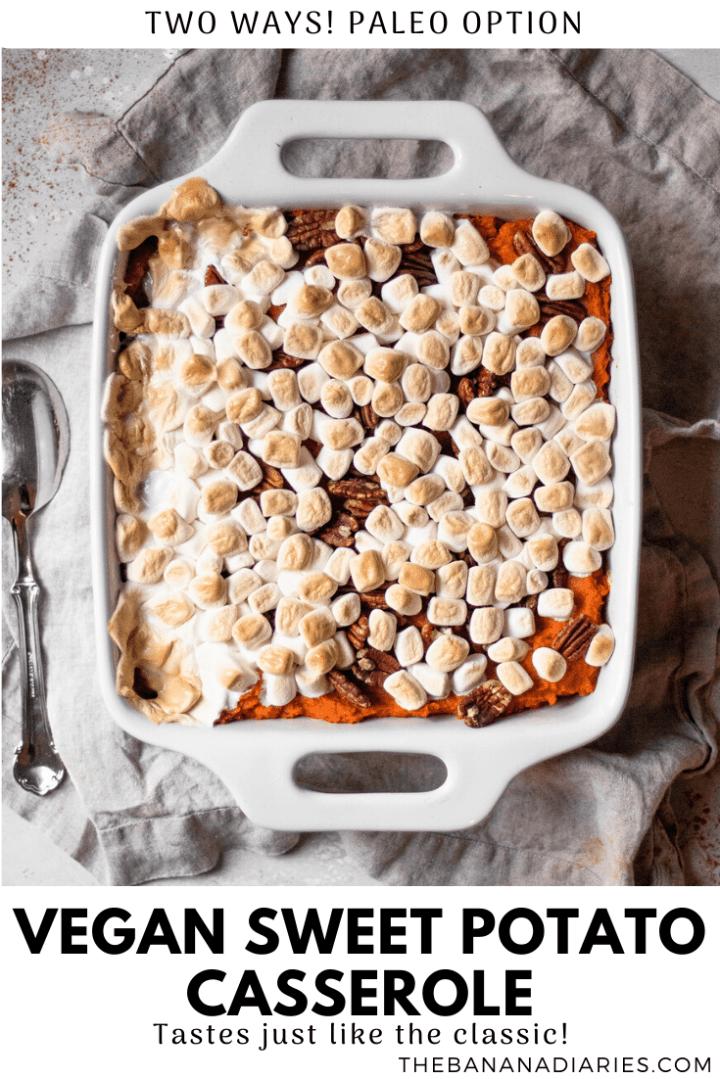 pinterest image for sweet potato casserole