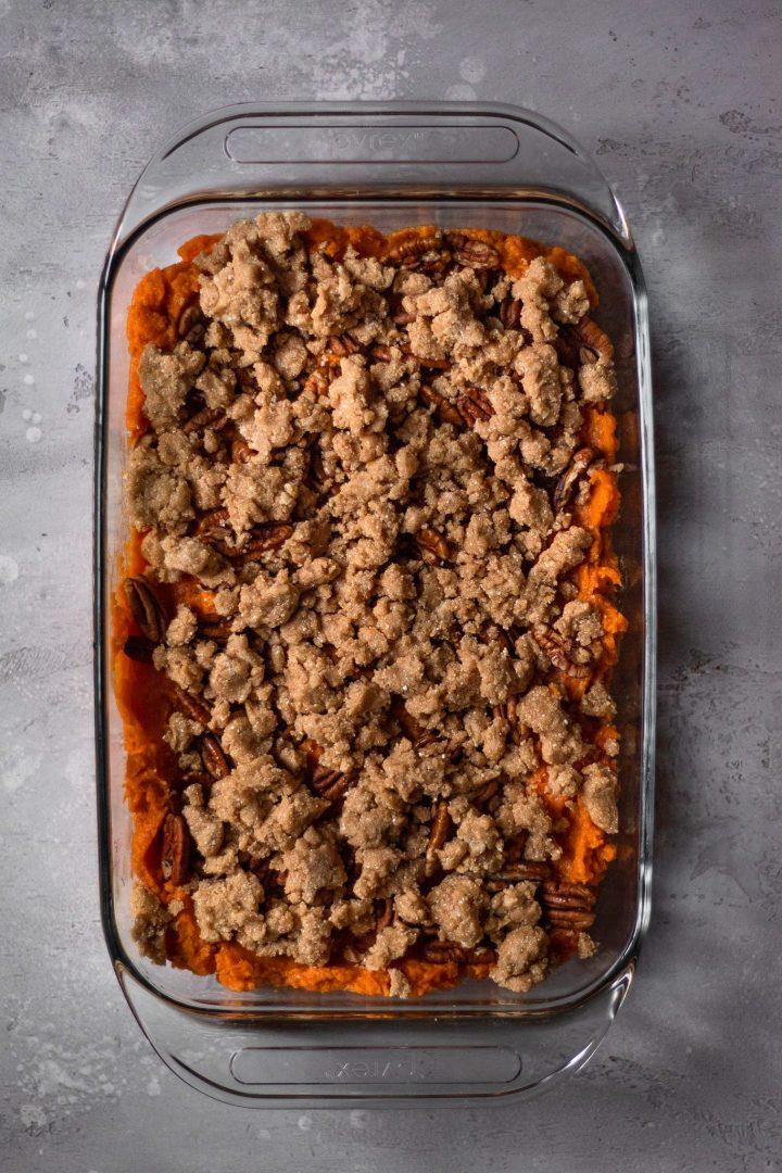 unbaked paleo sweet potato casserole