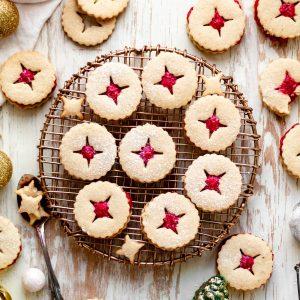 gluten free vegan linzer cookies