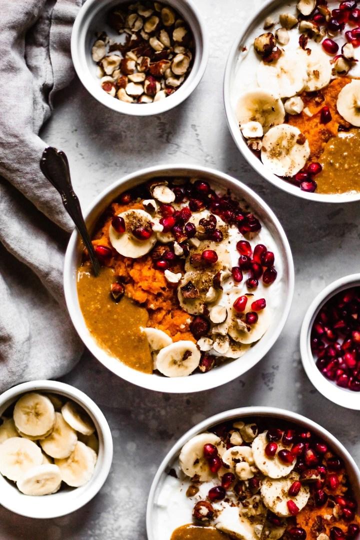 easy sweet potato breakfast bowls