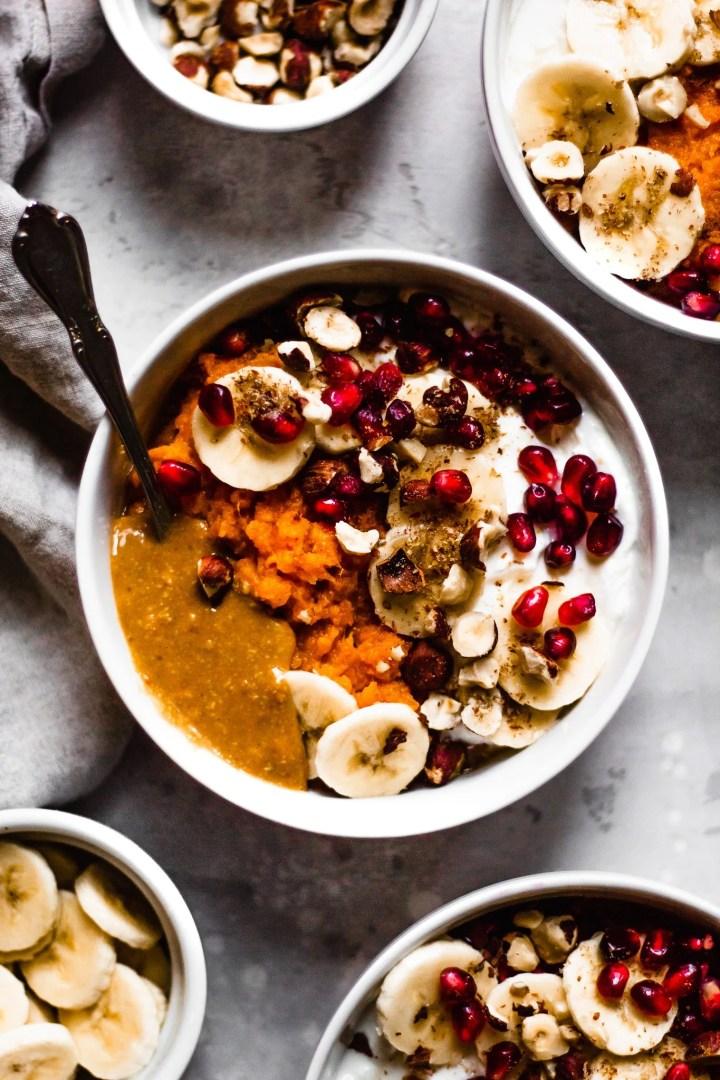 easy sweet potato breakfast bowl