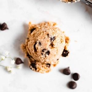 single scoop of cookie dough