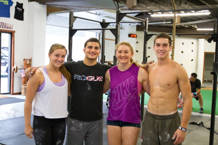 The Dream Team during the 2015 CrossFit Team Series