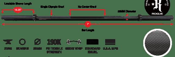 Rogue-Froning-Bar-Specs-Bearing-Bar