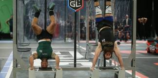 Mike Abgarian and Jared Enderton on deficit handstand push-ups