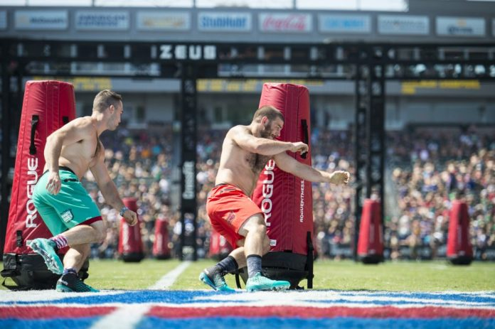 Mat Fraser and Ben Smith at 2016 CrossFit Games