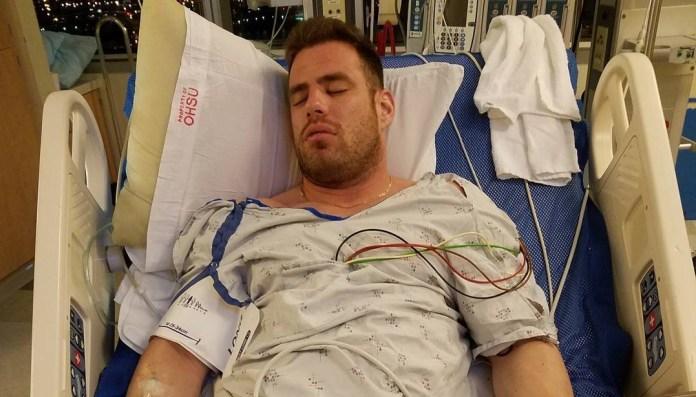 Jon North suffers heart attack