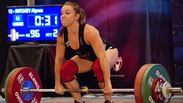 Alyssa Ritchey at the 2015 USAW National Championships