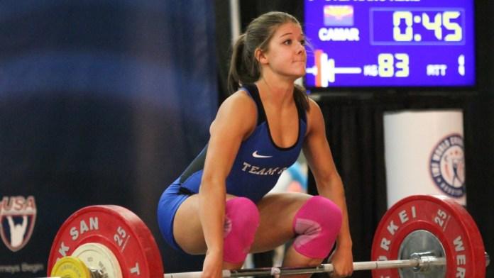 Kaela Stephano at 2016 USAW Youth Championships