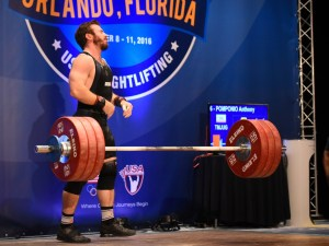 Anthony Pomponio after missing clean & jerk at 2016 USAW American Open