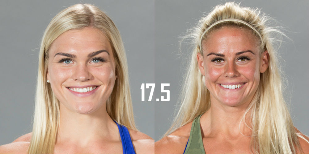 Katrin Davidsdottir and Sara Sigmundsdottir face off in the 17.5 Open Announcement in Madison, Wisconsin