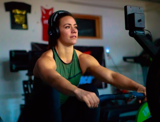 Camille Leblanc-Bazinet using Halo Sport