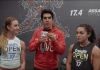 Dave Castro, Brooke Wells and Brenda Castro during 17.4 Open Announcement (screen cap)