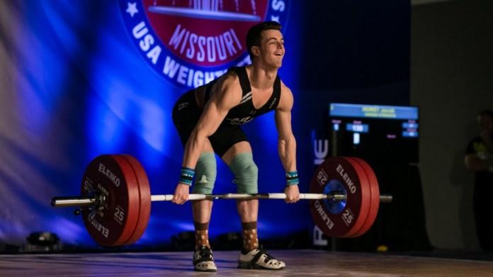 Jacob Horst at 2017 USAW Junior Nationals (Photo: Lifting Life)