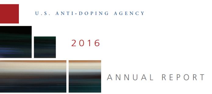 2016 USADA Annual Report Cover