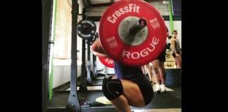 Bethany Branham does 5x10 front squats. @bethanycf/Instagram