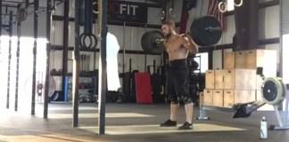 Jordan Cook doing a Row/Back Squat AWOD. @jcrossfitcook/Instagram