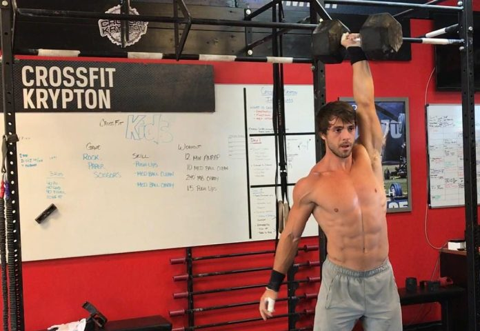 Alec Smith testing out the Triple G Chipper event prior to the CrossFit Games. @alecsmith8/Instagram