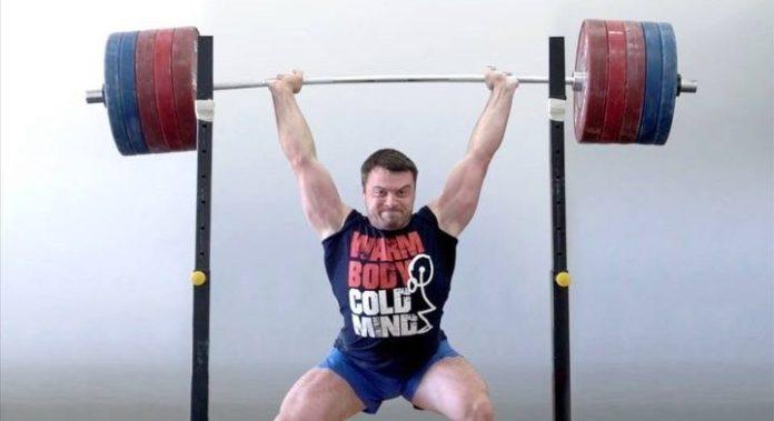Aleksey Torokhtiy power jerked 250kg in training. @torokhtiy/Instagram