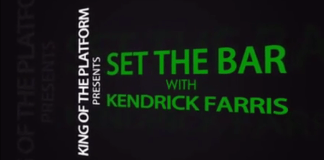 Kendrick Farris releases video series on YouTube titled, Set the Bar.