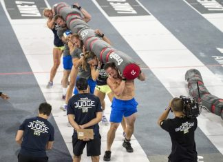 CrossFit Mayhem during Rowing Worm. Photo courtesy of CrossFit Inc.