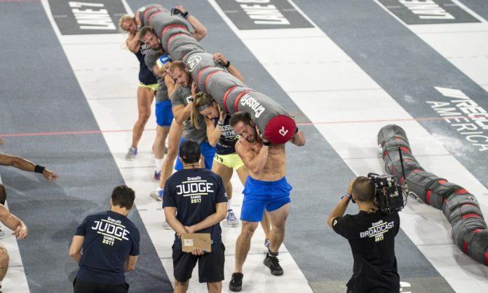 CrossFit Mayhem during Rowing Worm. Photo courtesy of CrossFit Inc.