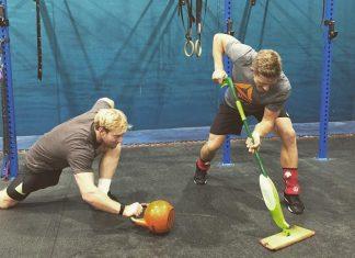 Brent Fikowski and Pat Vellner preparing for the CrossFit Invitational. @pvellner/Instagram