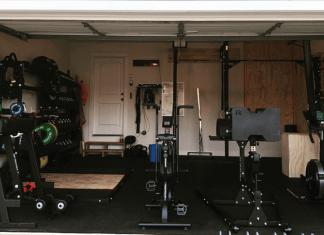 Mat Fraser's garage gym in Cookeville, Tennessee. @mathewfras/Instagram