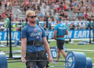 Patrick Vellner deadlifts 595 pounds during the CrossFit Total at the 2018 CrossFit Games. Photo courtesy of CrossFit Inc.