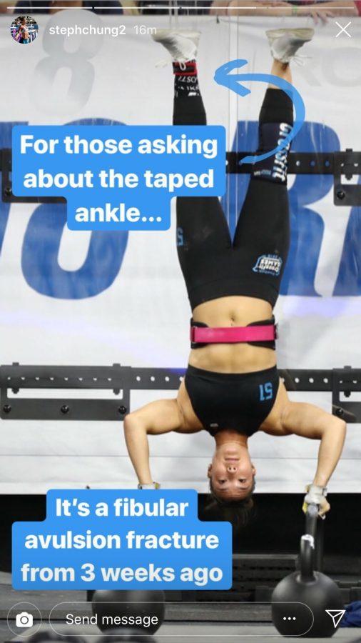 Stephanie Chung at 2018 CrossFit Games, via Instagram story.