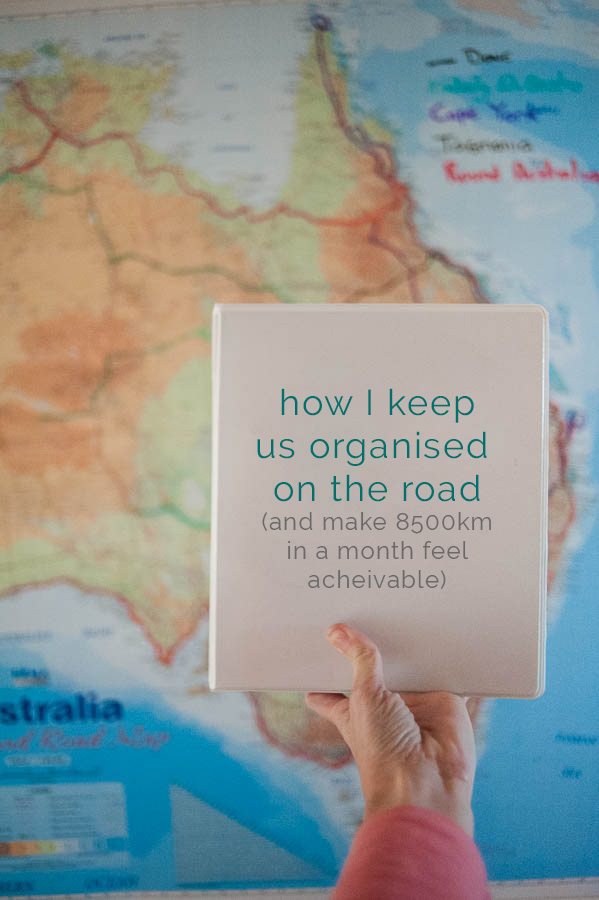 road trip and travel planner to keep ourselves organised on the road