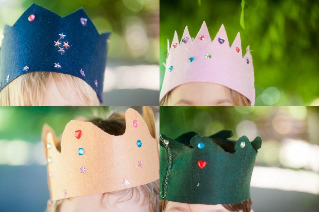 easy felt crowns