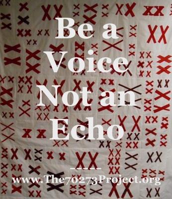 text: Be a voice not an echo