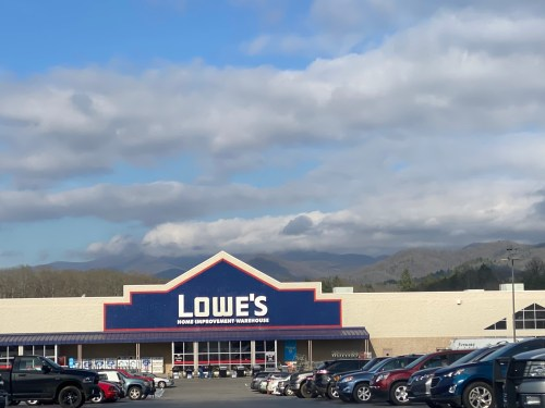 Lowe's with mountains and clouds as a backdrop