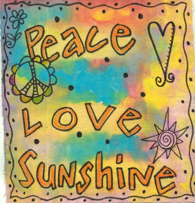 hippie peace flag
