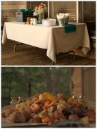 Frogmore Stew for our reception cooked by the masterful Uncle David.