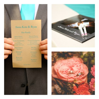 Program, our guest book and rings
