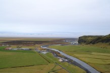 View from the top of Skogafoss