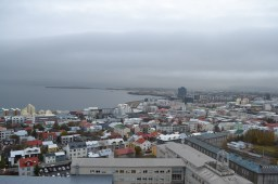 Under the bells of Hallgrimskirkja