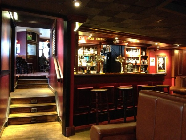 The lower bar in the Golden Rule is less favoured by locals who prefer upstairs