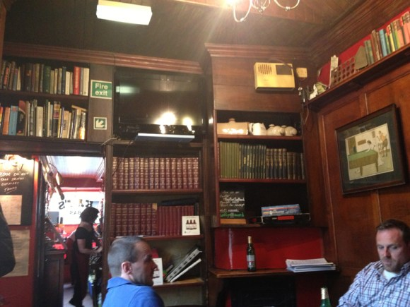 The back room of Kay's Bar, known as the library