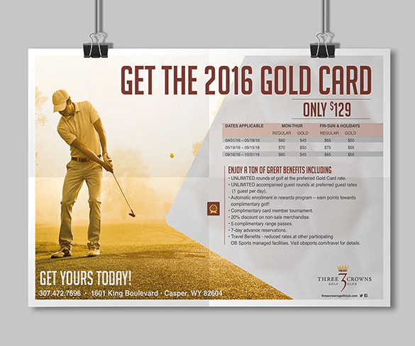 Three Crowns Golf Club Gold Card