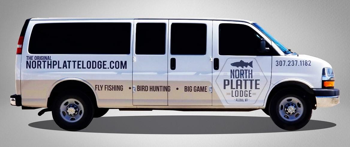 North Platte Lodge Van graphics