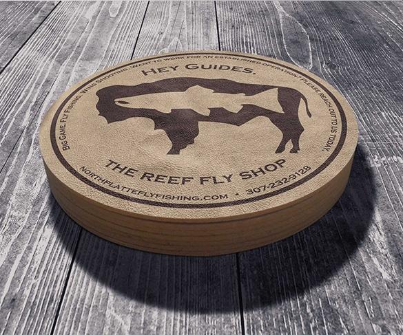 Reef Fly Shop Coaster design