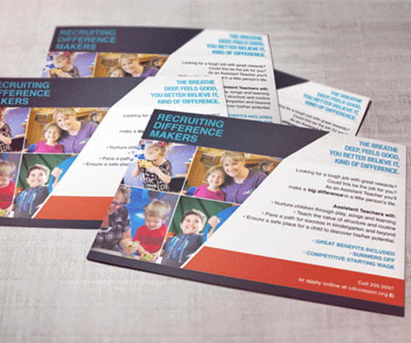 Child Development Center postcard design
