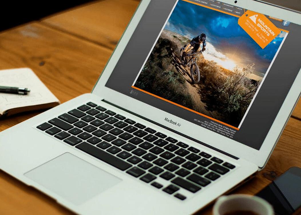 Mountain Sports Web design