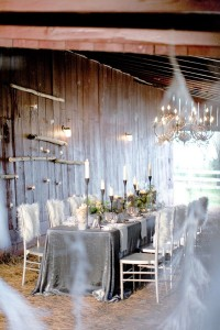 Winter Barn Wedding Reception