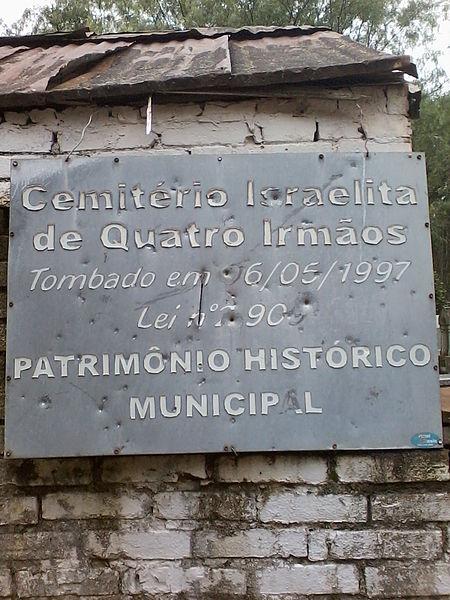 Cemitério_Judaico_Quatro_Irmãos_Placa
